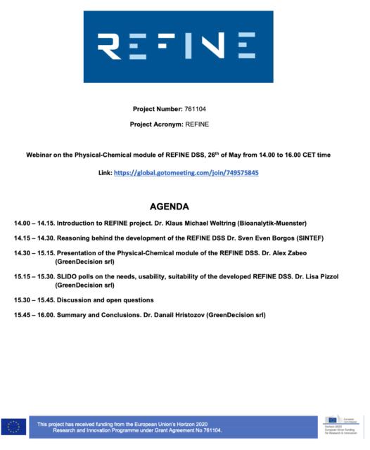 REFINE Project webinar